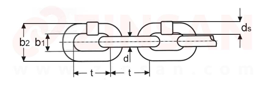 سلاسل DIN EN 818-2 (فئة الجودة 8، درجة 80)